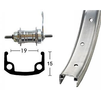 Bike parts 20″ rear aluminum rim + Rücktrittbrems hub