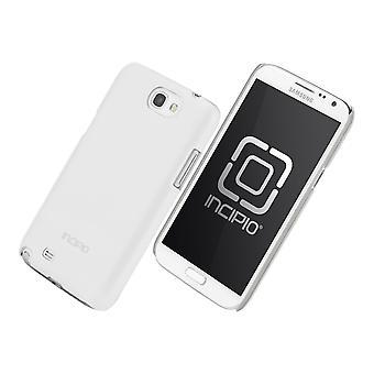 Incipio pluma brillo caso para Samsung Galaxy Note 2 (blanco)