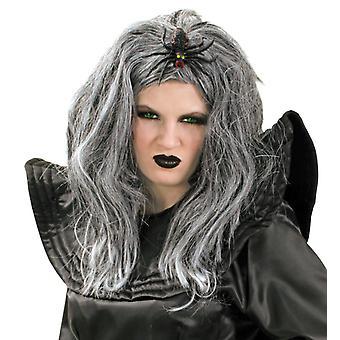 Паук ведьма парик Серый паук ведьма паук