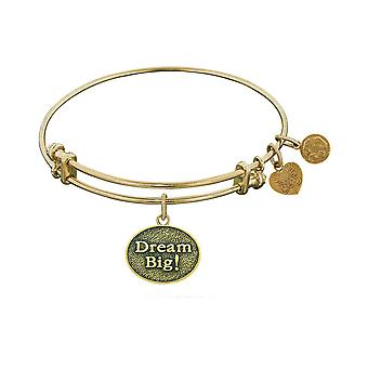 Stipple Finish Brass Dream Big! Angelica Bangle Bracelet, 7.25