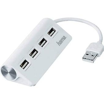 Hama 4 ports USB 2.0 hub White