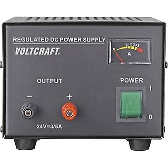 VOLTCRAFT FSP-1243 Bench PSU (fixed voltage) 24 Vdc (max.) 3 A (max.) 72 W No. of outputs 1 x