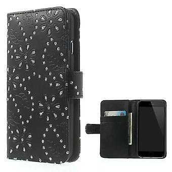 Mobile phone Pocket flip rhinestone for phone Apple iPhone 6 (4.7 inch) black