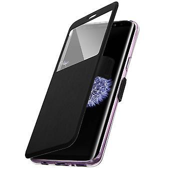 Flip Case mit Fenster für Galaxy S9 Plus durch Colorfone - schwarz