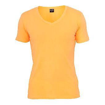 Urban classics men's T-Shirt neon V neck tee