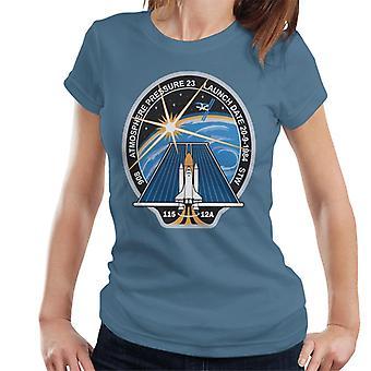 NASA STS 115 Space Shuttle Atlantis Mission Patch Women's T-Shirt