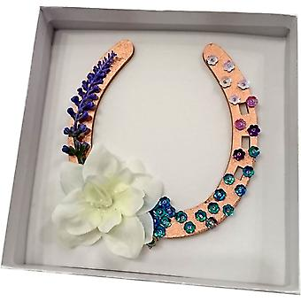 Sweet Pea Designs Floral Hufeisen Kupfer