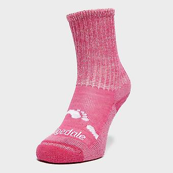 New Bridgedale Girl's WoolFusion® Trekker Socks Pink