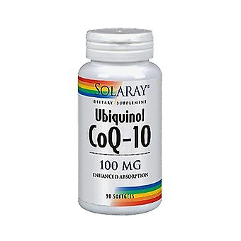 Solaray Ubiquinol CoQ10 100mg, 30 Softgel capsules