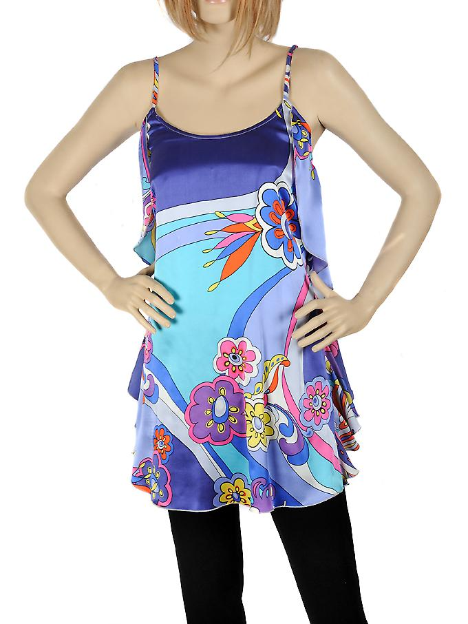 Waooh - Fashion - Little blue dress silk flower design