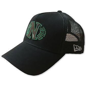 Donker n koud Camo ei Logo verstelbare Trucker Snapback Cap zwart
