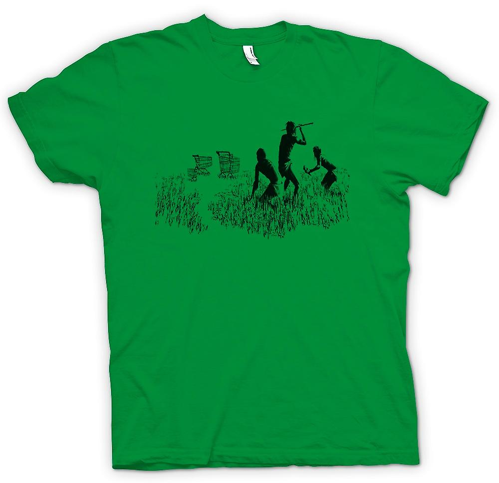 T-shirt Uomo - Banksy Graffiti Art - Hunters