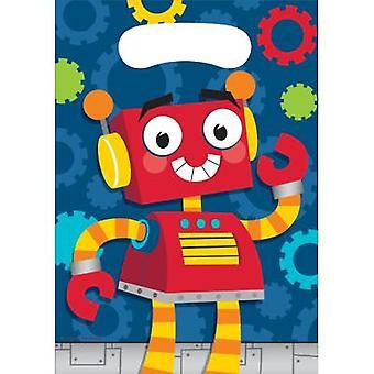 Robot partij tassen geschenk tassen 8 stuk verjaardag thema partij partij verjaardag kinderen