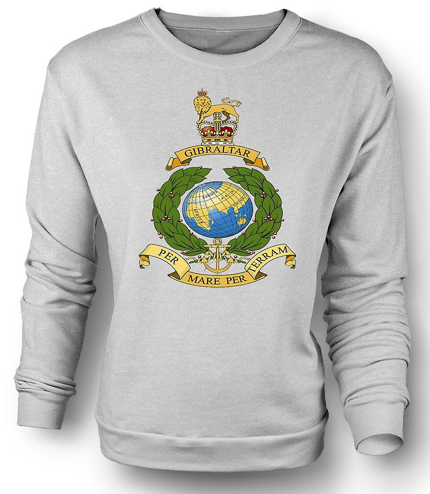 Mens Sweatshirt, Royal Marine Logo - par jument, par Terram