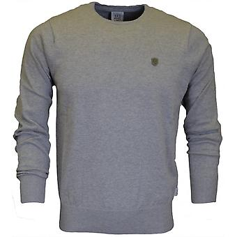 883 Police Muraco Grey Marl Cotton Jumper
