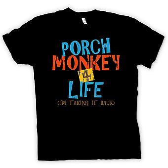 Womens T Shirt Porch Monkey 4 Life - Clerks Inspired