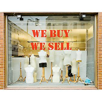 We Buy We Sell Shop Window Sticker Sign