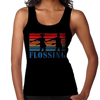 Flossing Sihouette Kids 80s Sunset Women's Vest