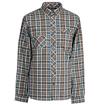 Pretty Green Khaki Classic Fit Check Shirt