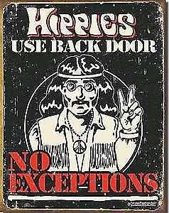 Hippies Use Back Door fridge magnet