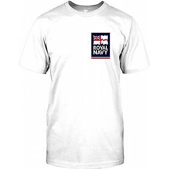 Le drapeau royal de la Marine - Chest Logo T Shirt