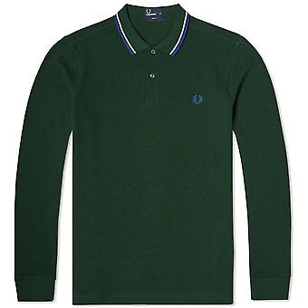 Fred Perry Men's Long Sleeve Twin Tipped Polo Shirt M1392-149