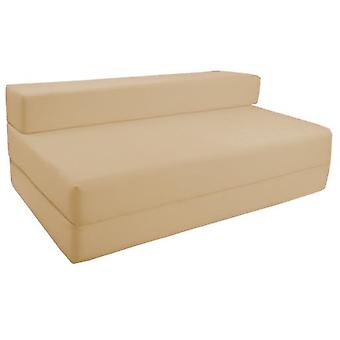 Water Resistant Fold Out Double Z Bed Sofa - Stone