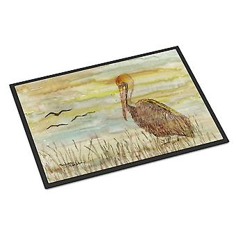 Brown Pelican Yellow Sky Indoor or Outdoor Mat 24x36