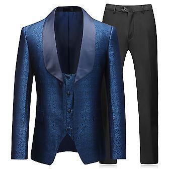 Allthemen Costume de smoking homme 3-Pièces Robe de mariée Shawl Collier Blazer-Vest-Pantalon