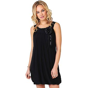 KRISP Womens Boho Pleated Bubble Jersey A Line Tunic Dress Party Pus Size 8-20