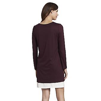 Rosch 1193741-12600 Robe de nuit en coton rouge Rubis pur pour femme
