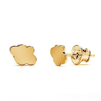 Ah! Jewellery 24K Gold Vermeil Over Sterling Silver Cloud Studs, Stamped 925