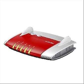Avm fritzbox 4020 router wireless internazionale ethernet 4 porta rj-45 ipv6 colore lan grigio/rosso