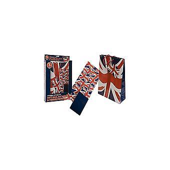 Union Jack Wear Union Jack gåva Bag set-Bag, wrap och silkespapper