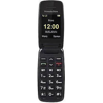 Primo por DORO 401 botón grande flip top teléfono móvil negro