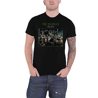 The Beatles T Shirt Hey Jude Live Band Logo nouveau officiel Mens Black