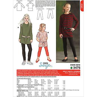 Tunics And Leggings  Xs 4  5   S 6   M 7  8   L 10   Xl 12  Pattern K3476