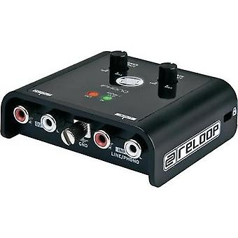 Reloop iPhono2 interface 16-bit A/D converter · PH/LN-switch · Plug 'n' Play system: for Windows XP/Vista an