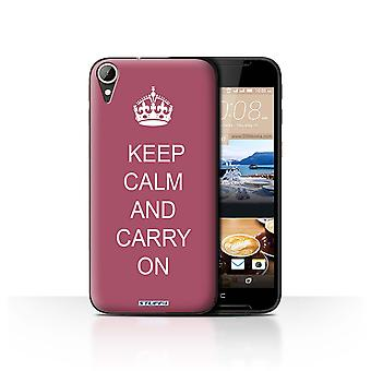 STUFF4 Case/Cover for HTC Desire 830/Carry On/Maroon/Keep Calm