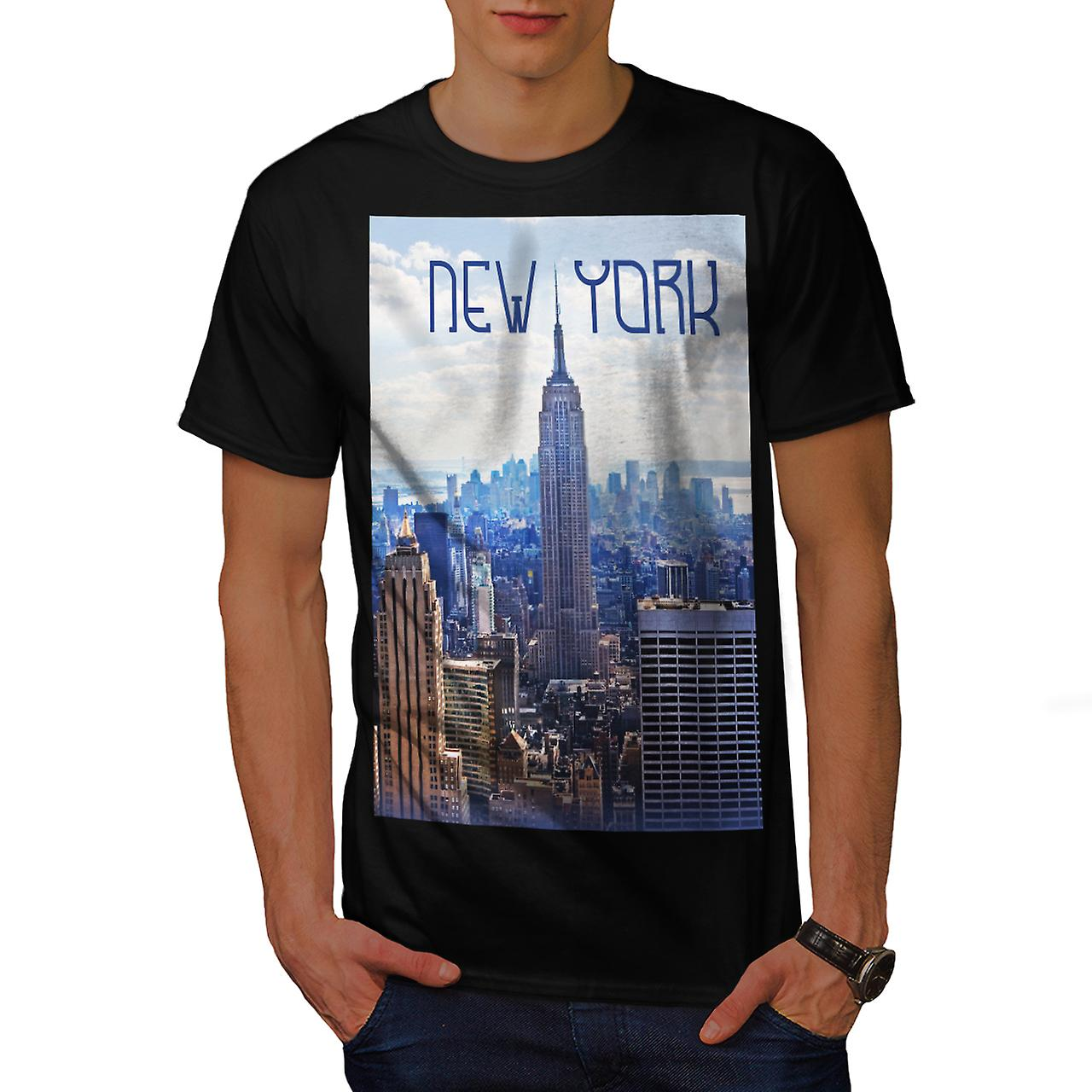 New York City NYC USA Urban Life Men Black T-shirt | Wellcoda