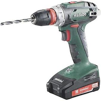 Metabo BS 18 Quick Cordless drill 18 V 2 Ah Li-ion incl. spare battery, incl. case