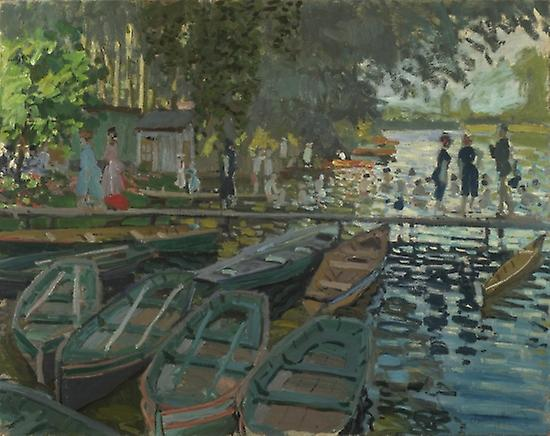 Bathers At La Grenouill Re Poster Print by Claude Monet