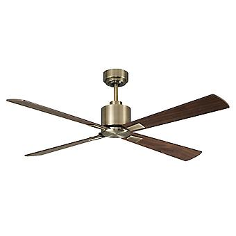 Direct current ceiling fan Airfusion Climate DC Brass antique with remote control 132 cm / 52