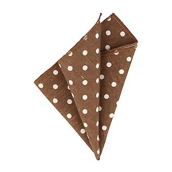 Snobbop handkerchief dark brown with white dots handkerchief Cavalier cloth
