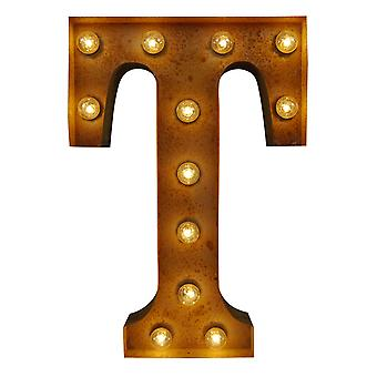 Large Vintage Letter Lights - T (60cm x 10cm)