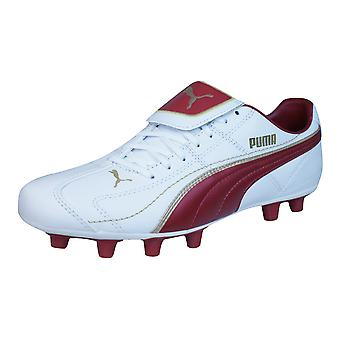 Puma Liga XL i FG Mens Leather Football Boots / Cleats - White