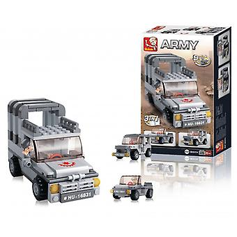 Sluban Building Blocks Aircraft Carrier Series Jeep 3-in-1