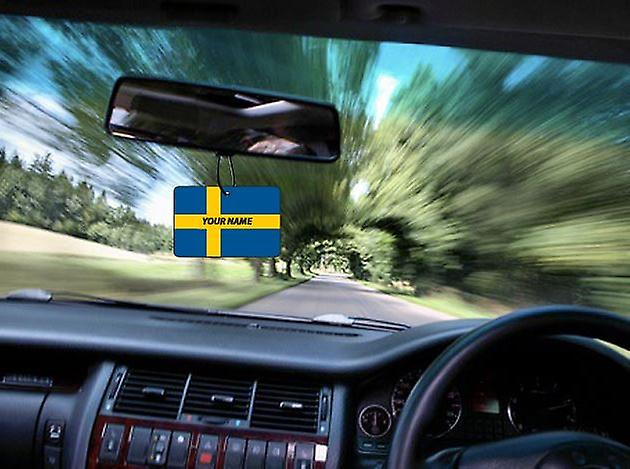 Sweden Flag Personalised Car Air Freshener