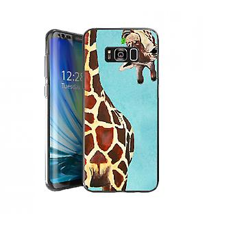 Giraffe with leaf cover for Galaxy S8 Plus