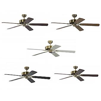 Ceiling Fan Potkuri brass antique, selectable blade colour